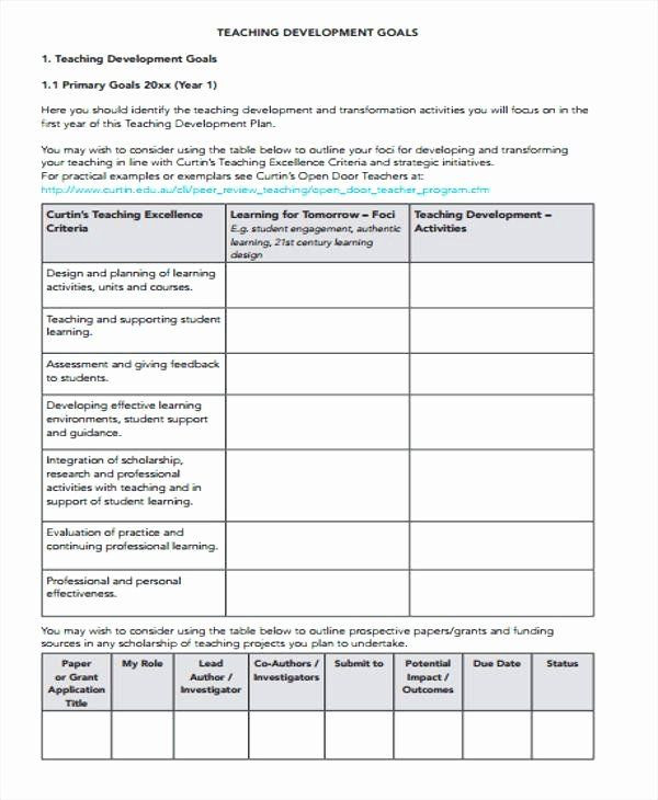 Individual Student Action Plan Template Performance Development Plan Template Elegant Individual