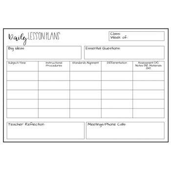 Infant Lesson Plan Template Editable Lesson Plan Template Freebie