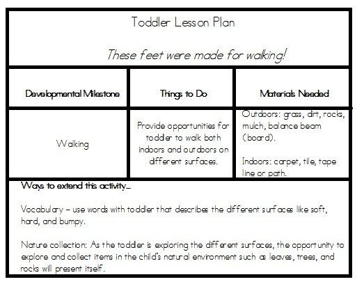 Infant toddler Lesson Plan Template toddler Lesson Plan Tidbits