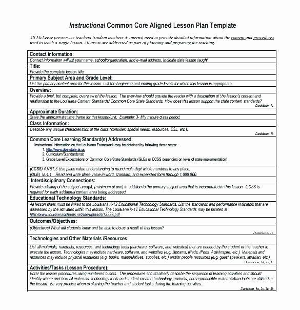 Instructional Framework Lesson Plan Template Lesson Plan Template Word Doc Unique College Lesson Plan