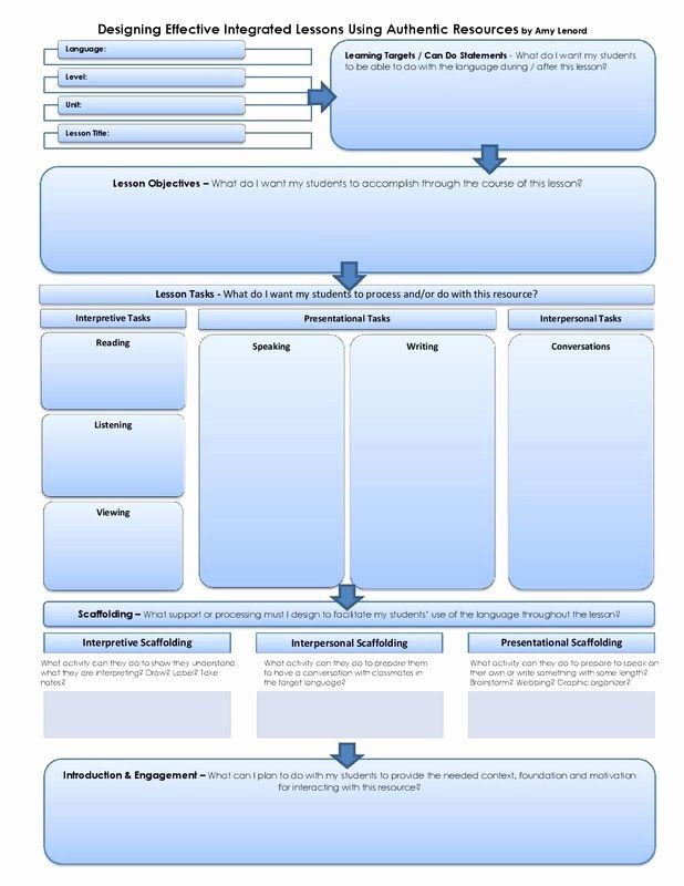 Integrated Lesson Plan Template Integrated Lesson Plan Template Unique Amazing Layout for