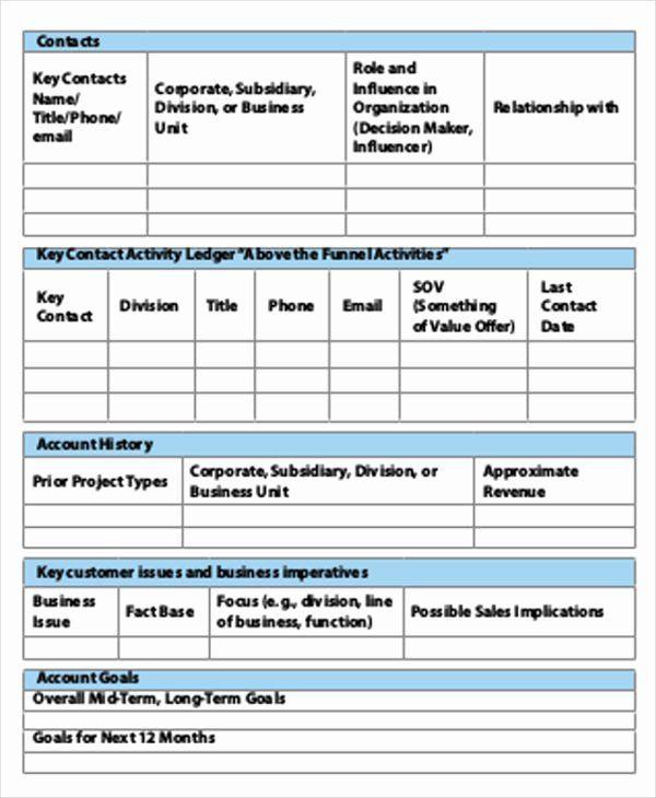 Key Account Plan Template Account Plan Template Ppt Inspirational Account Plan