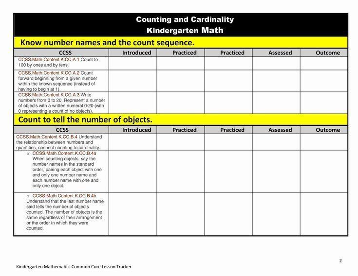 Kindergarten Math Lesson Plan Template 2nd Grade Sight Word List Mon Cores Math In 2020
