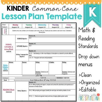 Kindergarten Math Lesson Plan Template Found On Bing From