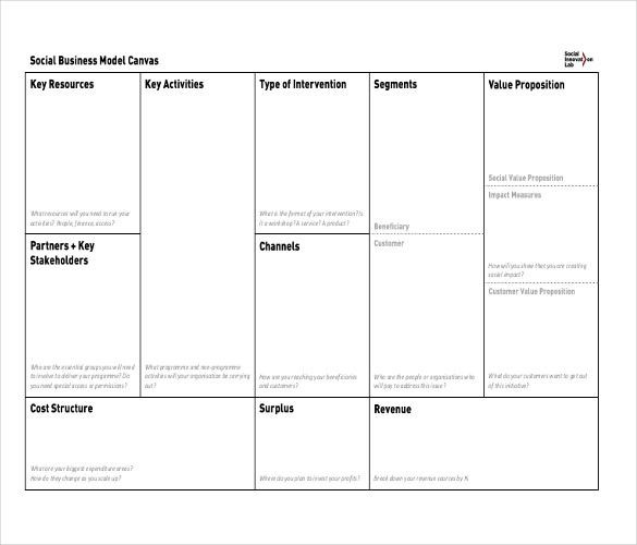 Lean Business Plan Template 10 Business Model Templates