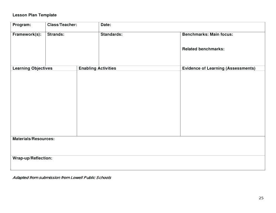Learning Focused Lesson Plan Template Pin On Schedule
