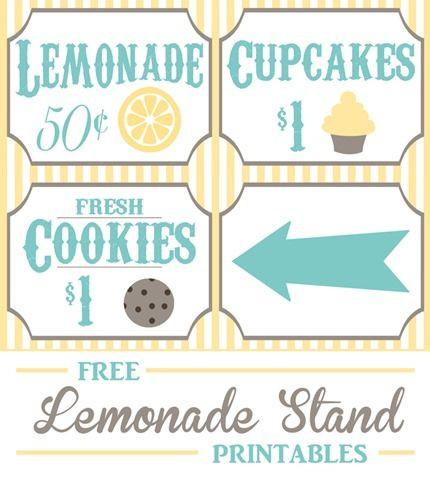 Lemonade Stand Business Plan Template Free Lemonade Stand Printables