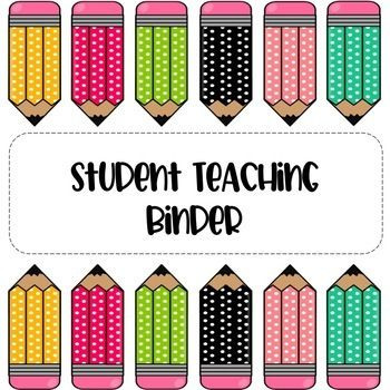 Lesson Plan Binder Cover Template Free Student Teacher Binder Cover Located On Tpt by Lala