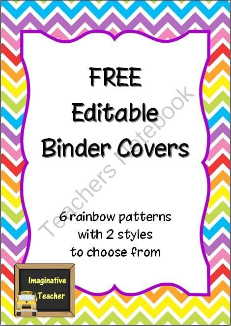 Lesson Plan Binder Cover Template Teachers Notebook