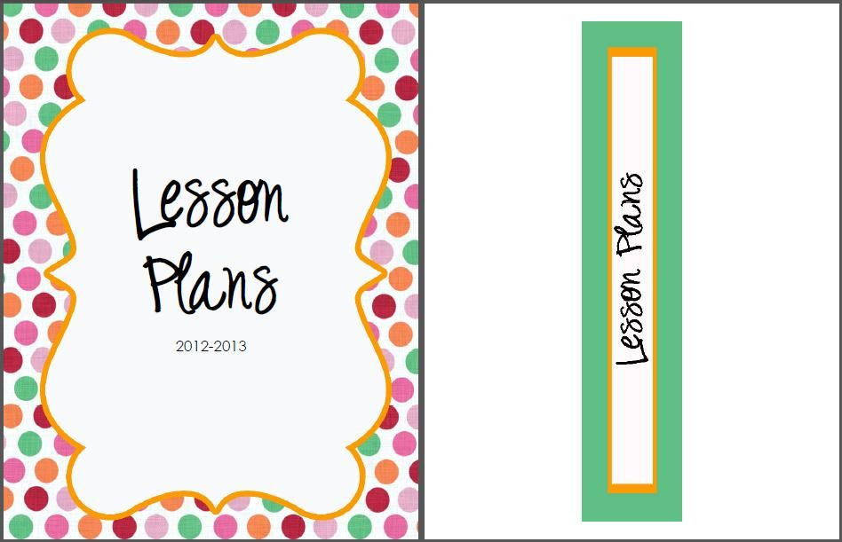 Lesson Plan Binder Cover Template the Real Teachr Creating A Lesson Plan Book