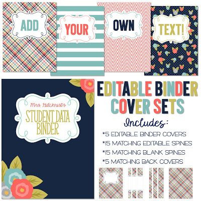 Lesson Plan Binder Cover Template Win A Free Set Of Editable Binder Covers Just Answer A