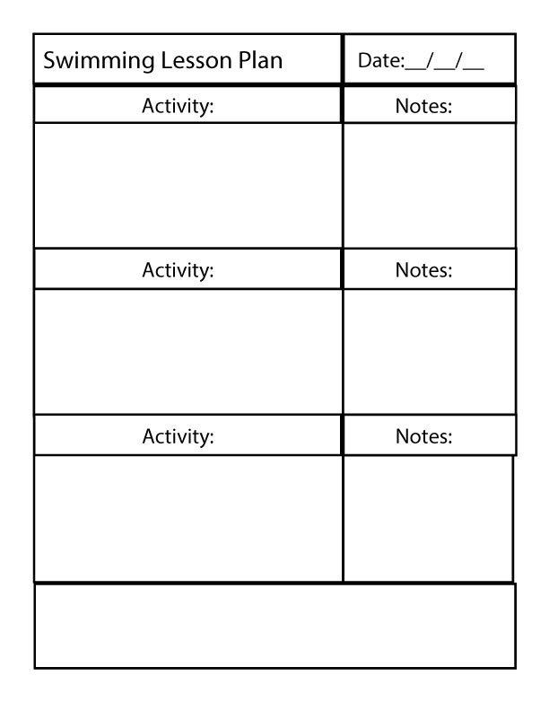 Lesson Plan Blank Template Fun and Effective Instruction