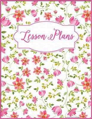 Lesson Plan Book Cover Template Floral Lesson Plans Book Cover Ii