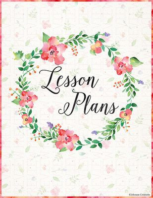 Lesson Plan Book Cover Template Floral Lesson Plans Book Cover