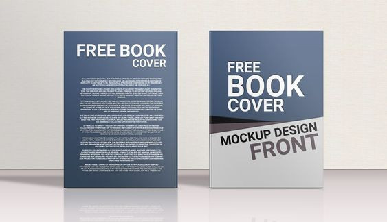 Lesson Plan Book Cover Template Standing Hardcover Book Front Back Mockup