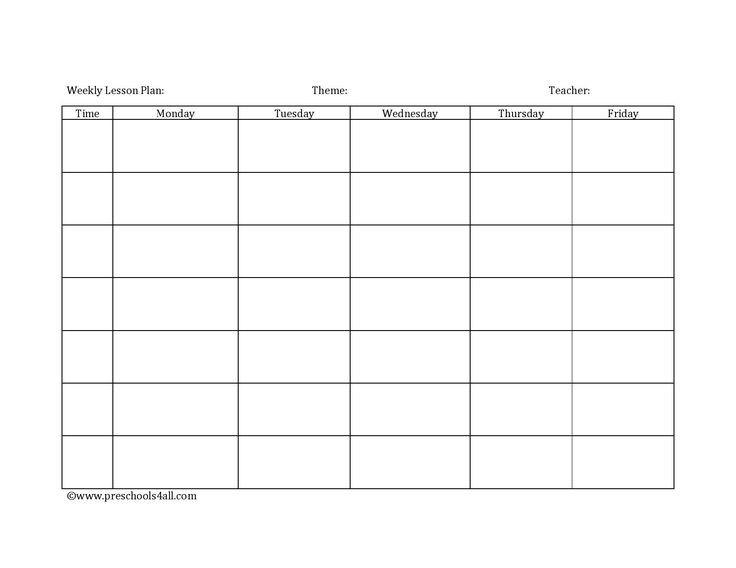 Lesson Plan Book Template Preschool Lesson Plan Template Lesson Plan Book Template