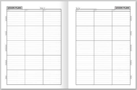 Lesson Plan Book Template Teacher Printable Lesson Plan Book Eden Escape