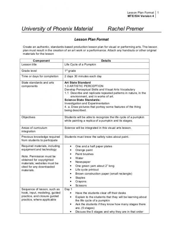 Lesson Plan Template College College Lesson Plan Template