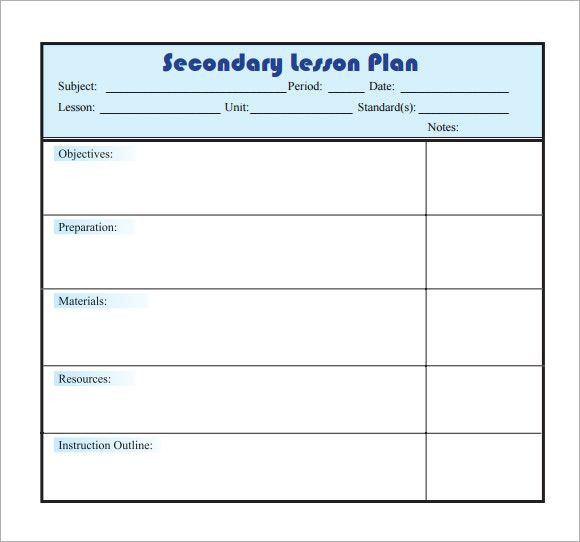 Lesson Plan Template Daily Simple Weekly Lesson Plan Template Inspirational Sample