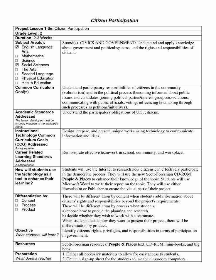 Lesson Plan Template Florida Pin On Lesson Plan Template Printables