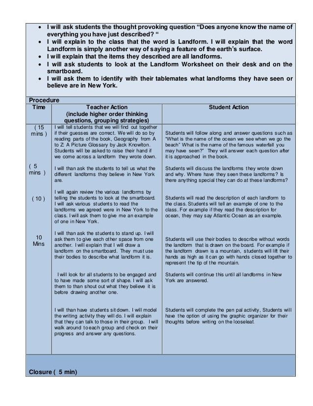 Lesson Plan Template for Edtpa Edtpa Lesson Plan Template Ny Five Edtpa Lesson Plan