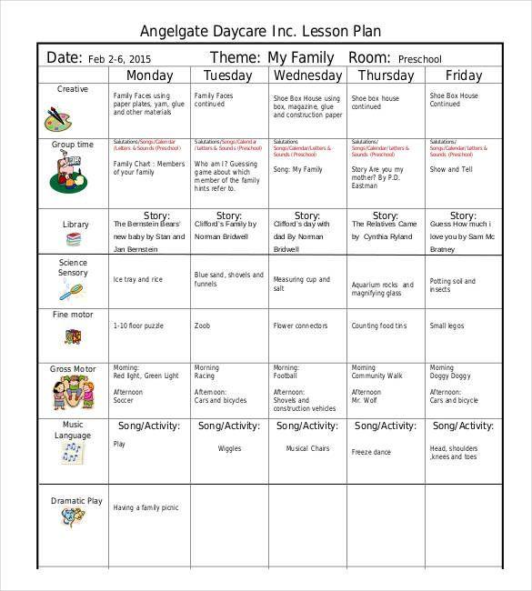 Lesson Plan Template for Kindergarten Doc Pdf Excel Free & Premium Templates