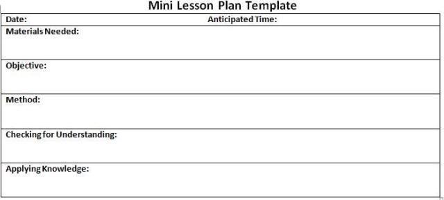 Lesson Plan Template Free Printable 10 Lesson Plan Templates Free Download