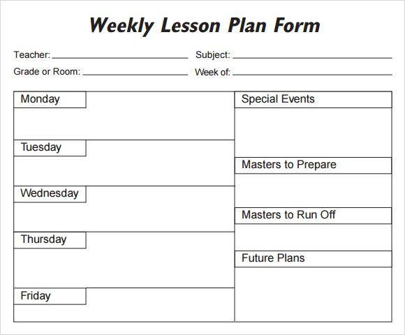 Lesson Plan Template Free Printable 5 Free Lesson Plan Templates Excel Pdf formats