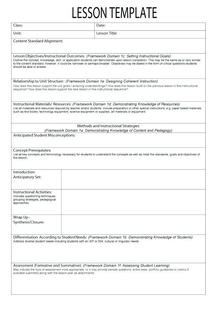 Lesson Plan Template Google Docs 27 Lesson Plan Template Google Docs