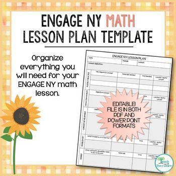 Lesson Plan Template Nyc Engage Ny Math Lesson Plan Template Editable