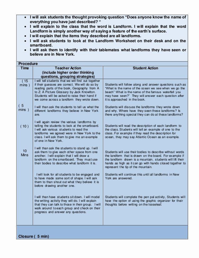 Lesson Plan Template Nyc Nys Lesson Plan Template Beautiful Edtpa Childhood Lesson