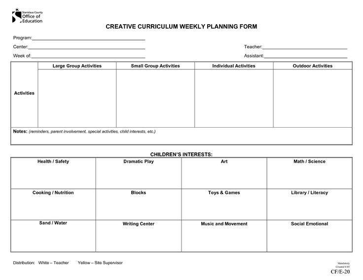 Lesson Plan Template Preschool Printable Pin by Kayla Gatto On Pre School Lesson Ideas In 2020