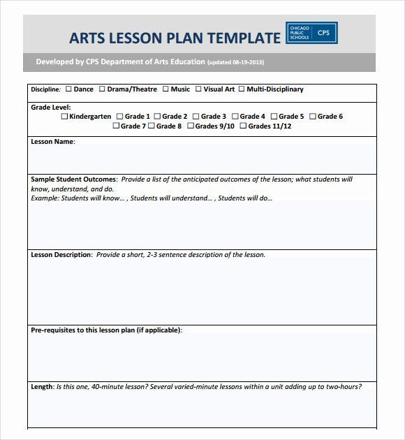 Lesson Plan Template Word Elementary Lesson Plan Template Word Inspirational Sample