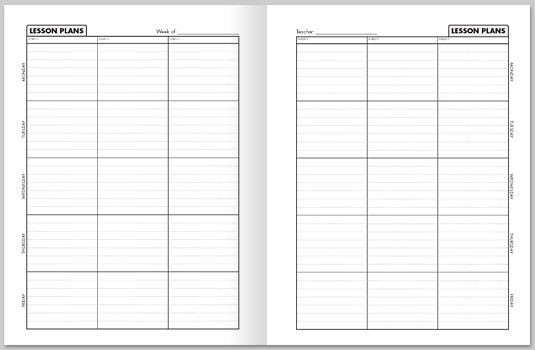 Lesson Planning Book Template Teacher Printable Lesson Plan Book Eden Escape
