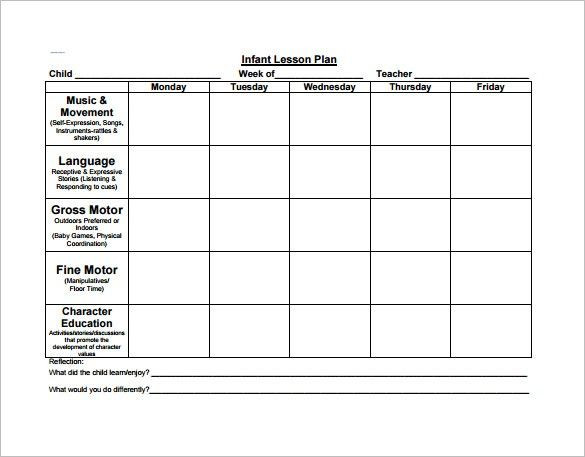 Lesson Plans Template for Preschool 2 Year Old Lesson Plan Template Preschool Lesson Plan