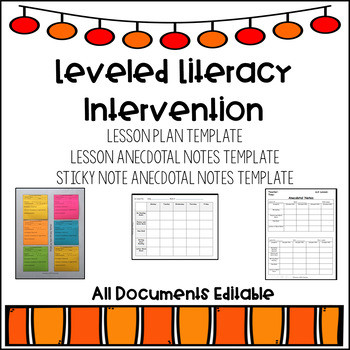 Lli Lesson Plan Template This Product Es with An Editable Lesson Plan Template