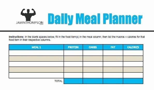 Macro Meal Planner Template Macro Meal Planner Template Inspirational Free Printable