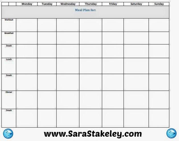 Macro Meal Planner Template Sara Stakeley Sara S Recipe Book