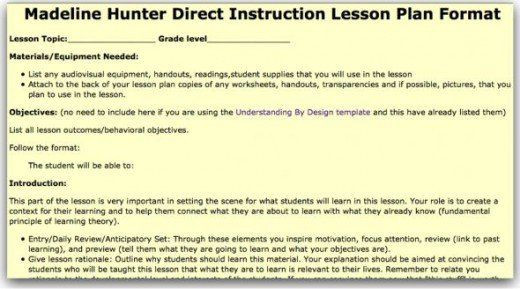Madeline Hunter Lesson Plan Template top 10 Lesson Plan Template forms and Websites