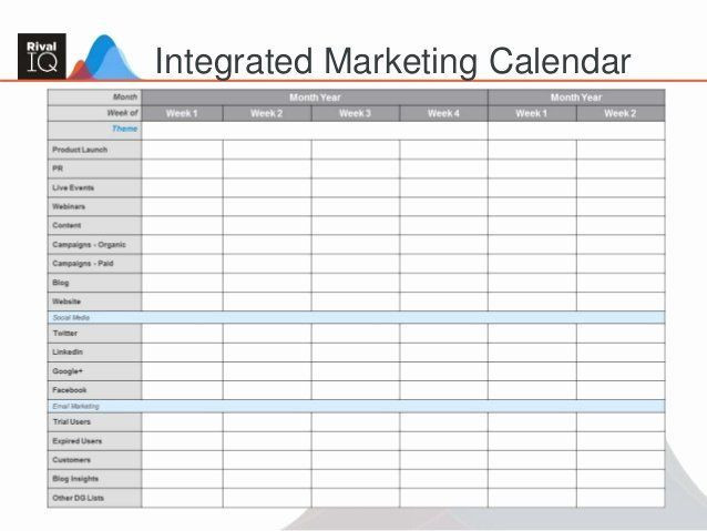 Marketing and Communications Plan Template Integrated Marketing Munications Content Marketing In