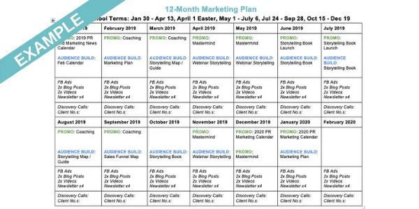 Marketing and Communications Plan Template Monthly Marketing Plan social Media In 2020