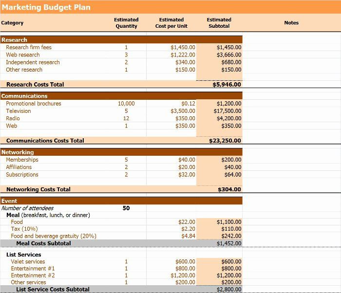 Marketing Plan Budget Template Marketing Action Plan Template Excel Best 4 Step Plan to