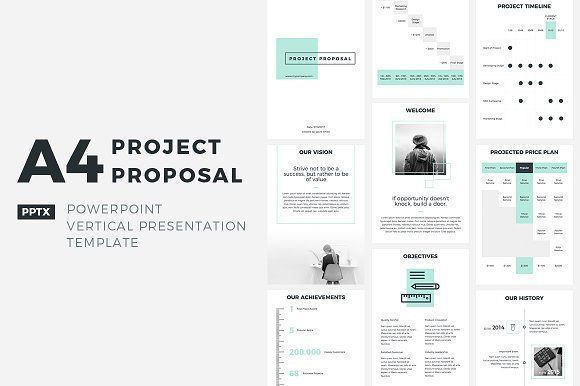 Marketing Plan Presentation Template A4 Project Proposal Powerpoint