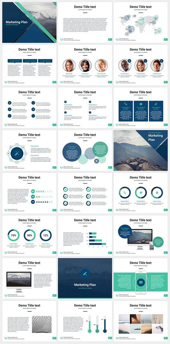 Marketing Plan Presentation Template Marketing Plan Free Powerpoint Template Download Free now