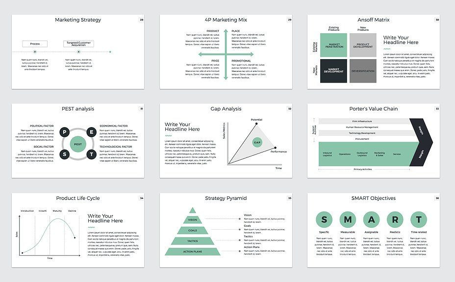 Marketing Plan Presentation Template Marketing Plan Powerpoint Template