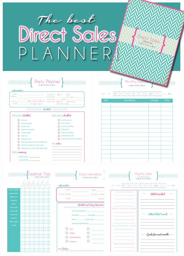Mary Kay Business Plan Template Direct Sales Planner Home Business Planner Blank