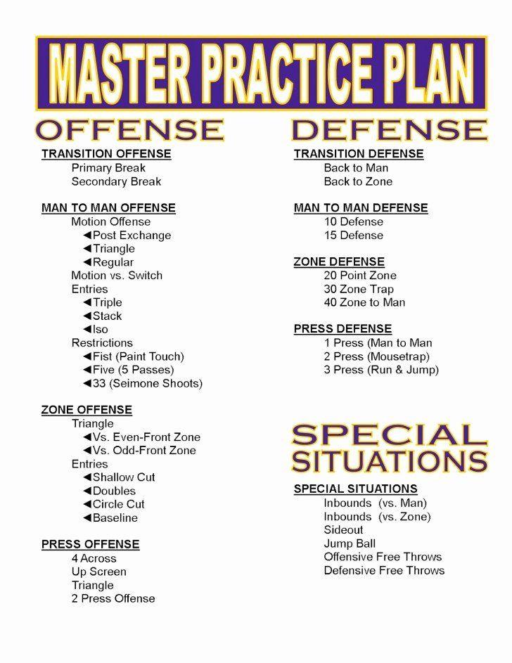 Master Basketball Practice Plan Template Blank Basketball Practice Plan Template Best 004 Plan