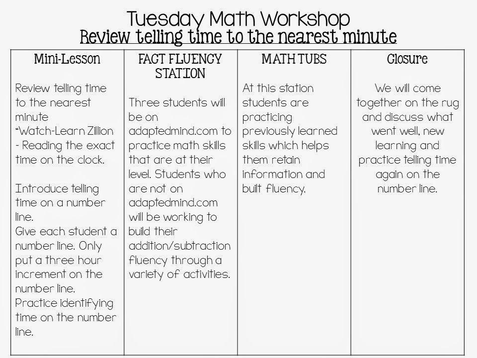 Math Workshop Lesson Plan Template Image Result for Math Workshop Lesson Plan Template