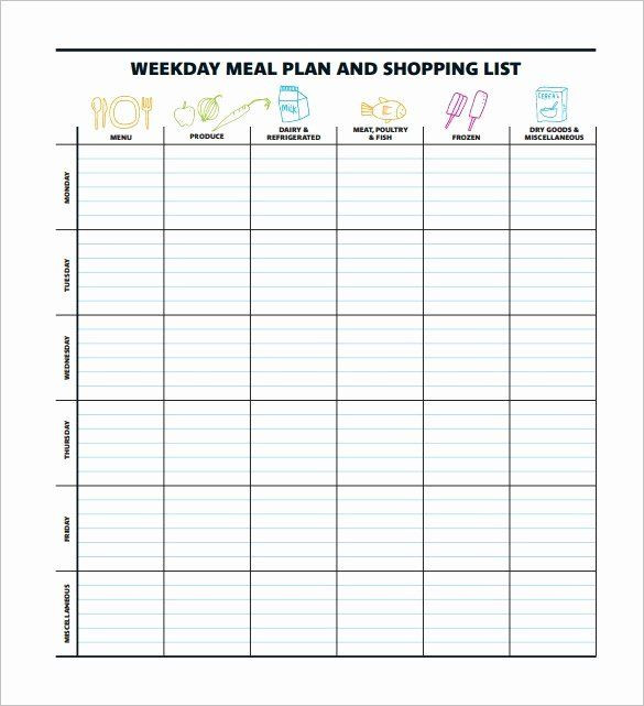 Meal Plan Template Pdf 40 Meal Plan Template Pdf In 2020