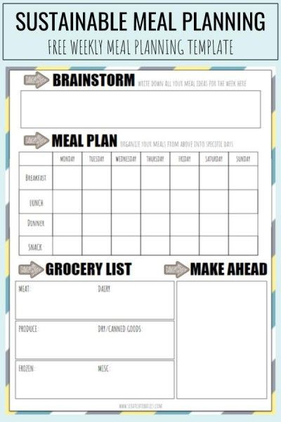 Meal Plan Template Pdf How to Meal Plan with A Free Pdf Template